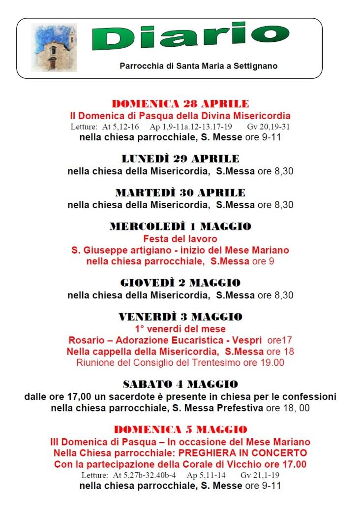 Diario 28-5 Maggio